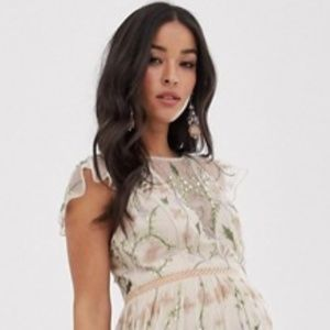 NEW ASOS Maternity embroidered floral dress